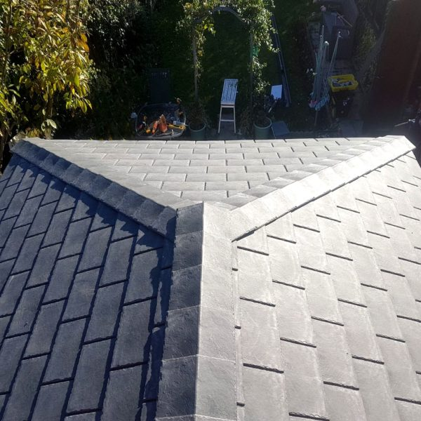 grey slate roof tile repair