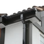 Black Soffits Gutters and Fascias